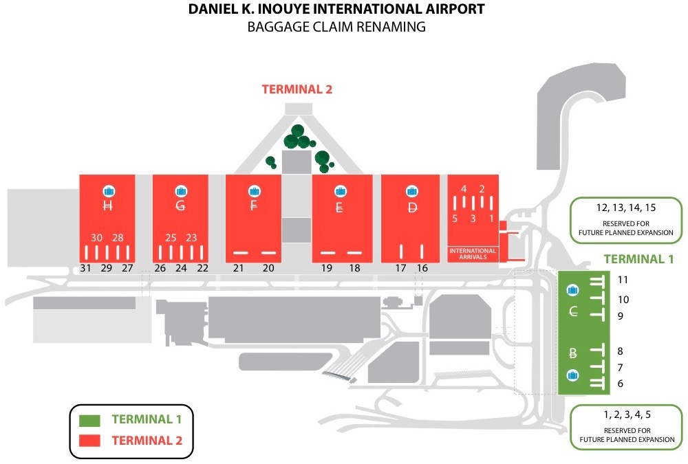 Honolulu Airport Baggage Claim Renaming