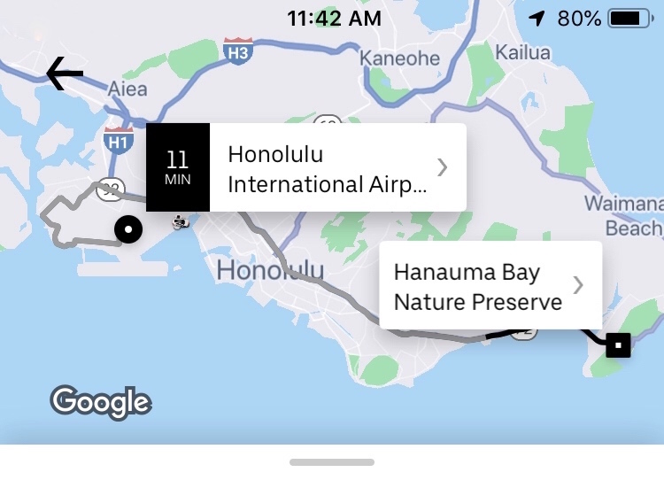 Honolulu Airport to Hanauma Bay Uber Rate