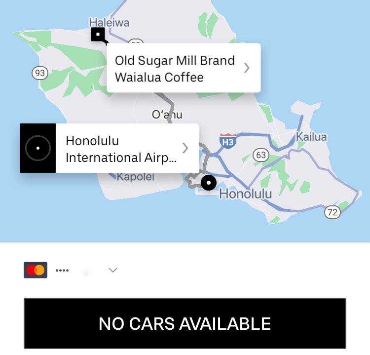 Honolulu Airport to Waialua